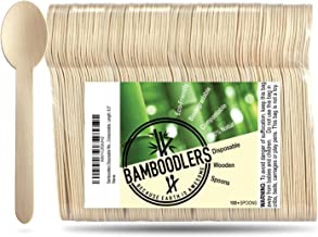 Disposable Wooden Spoons by Bamboodlers | 100% All-Natural, Eco-Friendly, Biodegradable, and Compostable - Because Earth i...