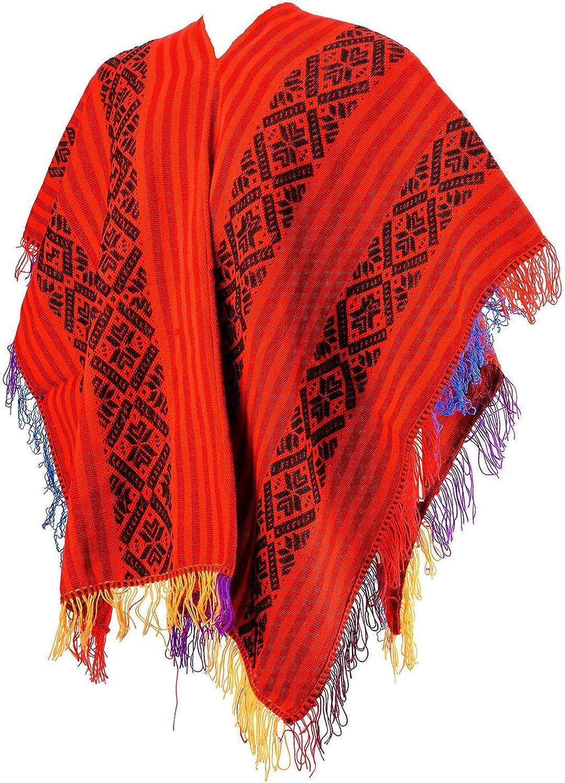 Peruvian Traditional Wool Blend Poncho