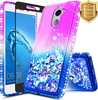 Huawei Ascend XT 2 (H1711) / Huawei Elate 4G LTE Case w/[Full Coverage Tempered Glass..