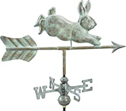 Good Directions 809V1G Rabbit Garden Weathervane, Blue Verde Copper with Garden Pole