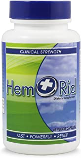 HemRid - Best Hemorrhoid Supplement. Reduce Hemorrhoid Itching, Irritation, Bleeding & Burning in 2-5 Days or Your Money Back. Clinically Tested Ingredients Provide Fast Relief - 120 Day Manufacturer Guarantee.