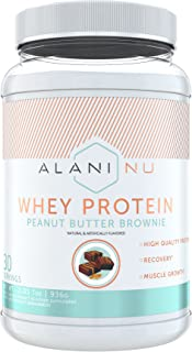 Alani Nu Whey Protein Powder, 23g of Ultra-Premium, Gluten-Free, Low Fat Blend of Fast-digesting Protein, Peanut Butter Br...