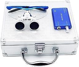 Alex Orale loepbril Led Headlight 3.5X 420mm met aluminium doos (zilver)