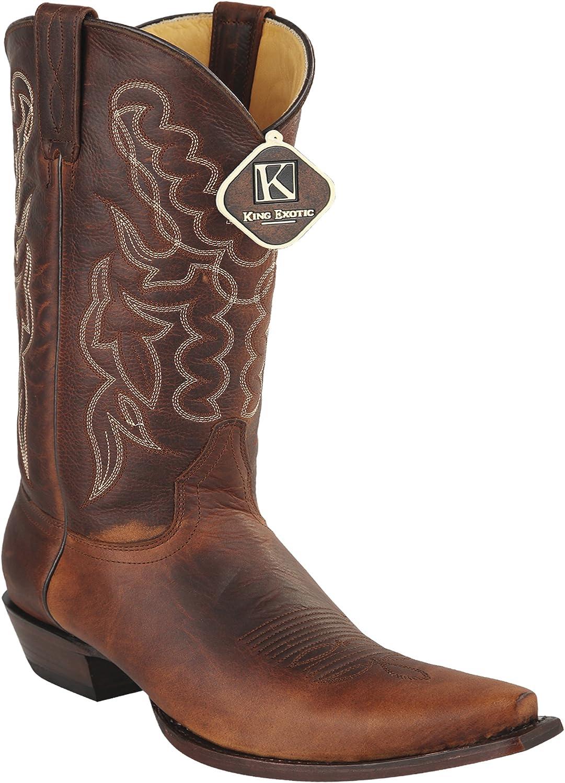 Woherrar Snipp Toe Walnut Walnut Walnut Genuine läder Rage Skin Western stövlar  underbar