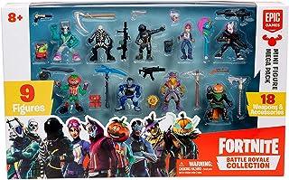 Fortnite 36516 Battle Royale Spelset med 9 actionfigurer och 18 vapen, flerfärgad