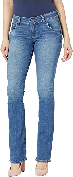 Beth Mid-Rise Slim Bootcut Jeans in Amaranth