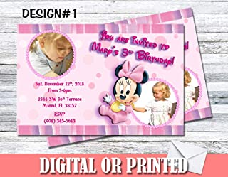 Baby Minnie Mouse Personalized Birthday Invitations More Designs Inside!
