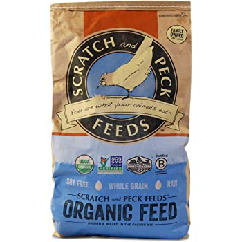 Scratch and Peck Feeds Naturally Free Organic Starter Chick Feed - Non-GMO Project Verified, Soy Free and Corn Free