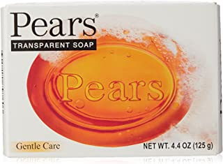(BARS) Pears Transparent Soap ORIGINAL GENTLE CARE. Moisturize the Skin While Cleansing With Natural Oils & Glycerin! Great for Hands, Face & Body! (6 Bars, 4.4oz Each Bar) by Pears