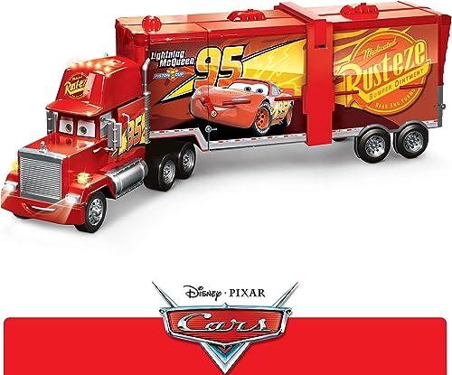 Disney Pixar voitures véhicule Camion Méga Mack, transformable en circuit dépliant pour voitures avec Booster, jouet pour enfant, FPK72