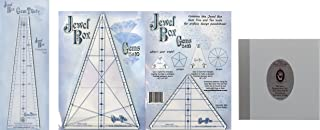 Kaleidoscope Quilt Tool Bundle of: Jewel Box Gem Five and Ten (5 & 10) Ruler Set, and Jewel Box Gem 30 Ruler, and Magic Mirrors for Quilters