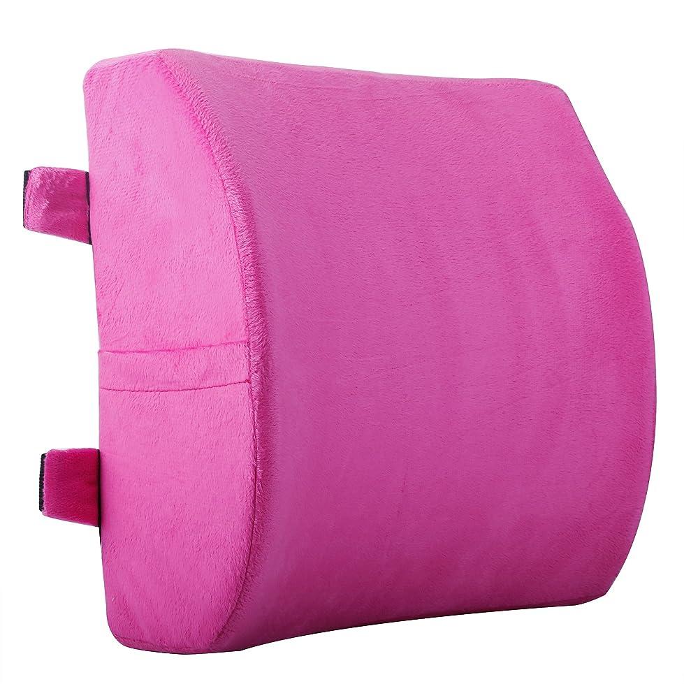 椅子クッション, 背もたれ 取付ダブルバンド調節可能 洗える 腰楽 介護用クッション ランバーサポート オフィス 椅子背もたれクッション