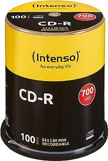 Intenso CD-R 700MB 100 Pieza(s) - CD-RW vírgenes (CD-R, 700 MB, 100 Pieza(s), 120 mm, 80 min, 52x)