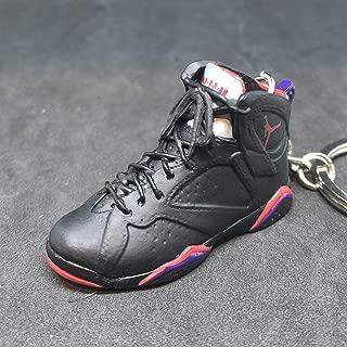 Air Jordan VII 7 Retro Raptors Black Purple OG Sneakers Shoes 3D Keychain Figure