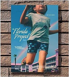 フロリダプロジェクト映画チャイルドプロットフィルムキャンバスプリントポスターウォールアートキャンバスペインティングリビングルームホームデコレーション(50X75Cm)-20x30インチフレームなし