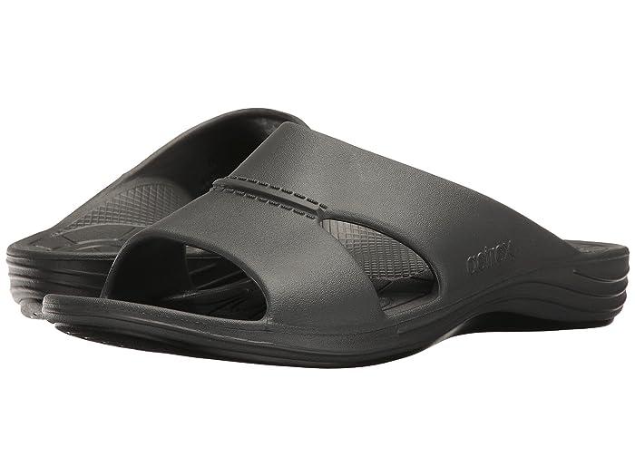 Aetrex  Lynco Slide (Charcoal) Mens Sandals