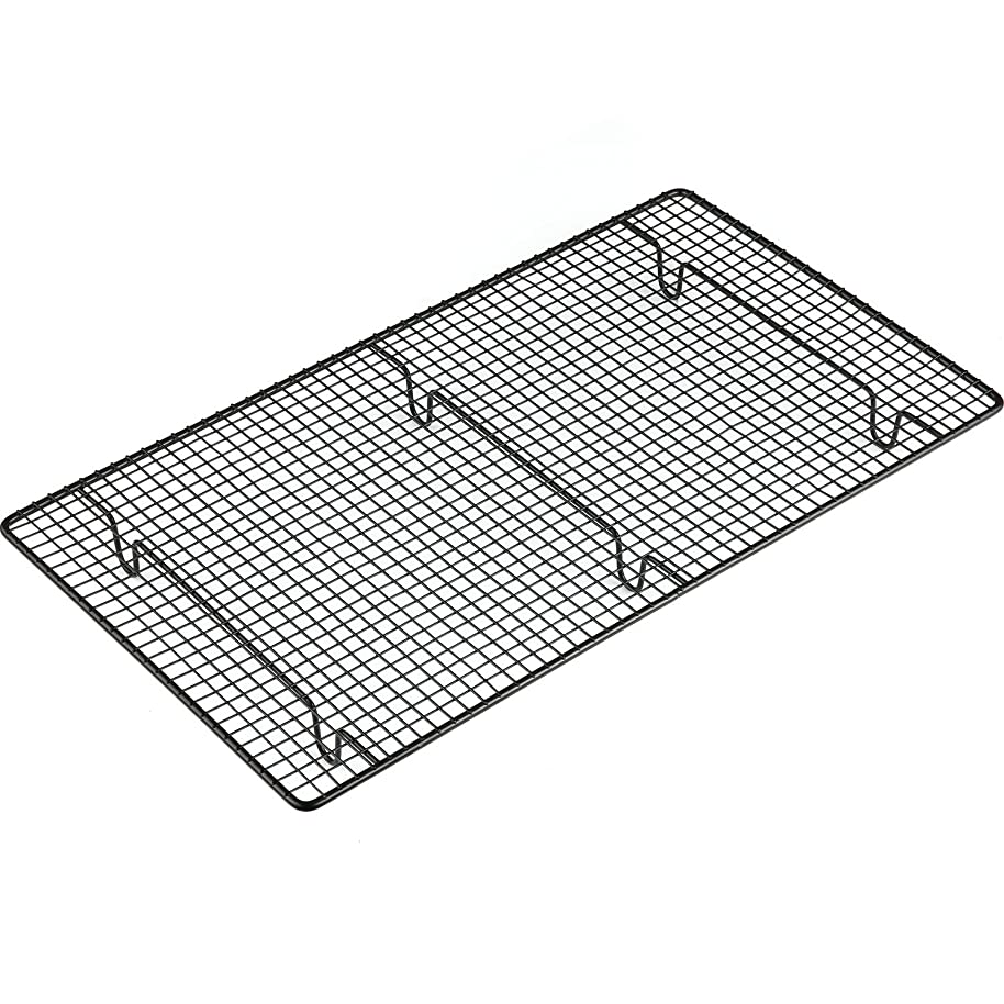 INTEY Nonstick Cooling Rack, Food Cooling Rack, Narrow Grid Design, Rust Protection, 18x10.2 Inch