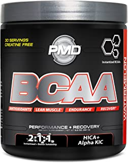 PMD Sports BCAA Delicious Amino Acid Drink for Performance and Recovery - Increase Muscle Function for Workout and Daily Energy - Watermelon - 30 Servings