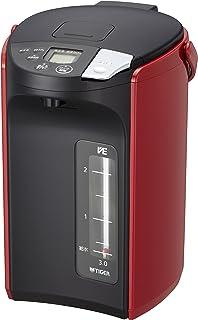 タイガー魔法瓶(TIGER) 電気ポット 3.0L 蒸気レス VE 電気 まほうびん とく子さん レッド PIP-A300-R