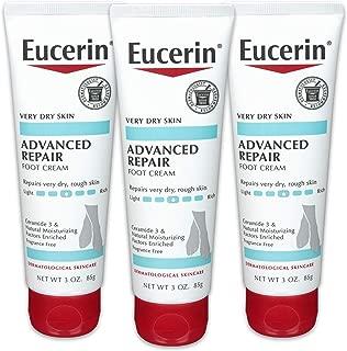 EUCERIN 优色林高级修复轻感足霜 3 盎司(3 件装)(包装可能有所不同)