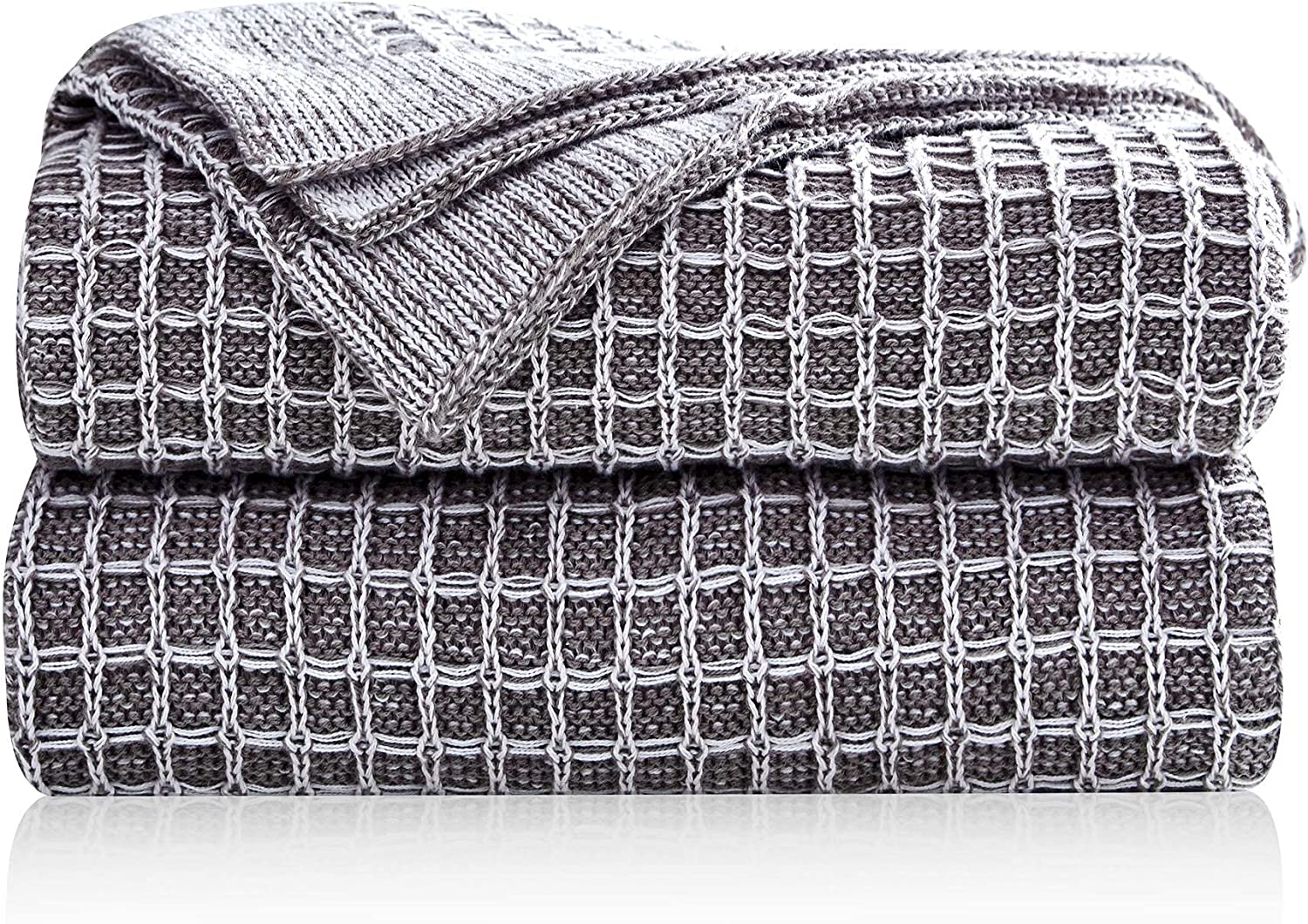 Pumpkin Town Gray 100% Cotton Cable Tulsa Mall Throw in Knit Summer Superior Blanket