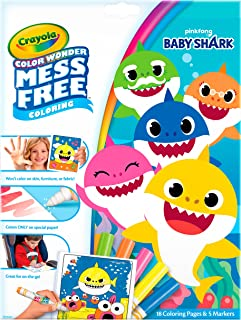 Crayola Baby Shark Wonder Pages, Mess Free Coloring, Gift for Kids, 1 Count (Pack of 1)