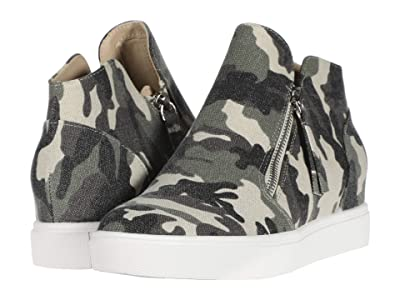 Steve Madden Caliber Wedge Sneaker (Green Camo) Women