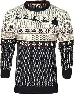 Xact Men's Nordic 'Reindeer' Xmas/Christmas Jumper