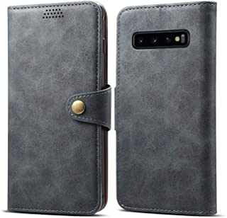 Cover Case for Samsung Galaxy S10 Plus,Holder Flip Shell Business Leather Cash Slot Photo Frame Black 6.4inch Holder 2Card Slot (ID Card,Credit Card) Full Protection Accurate Cutouts Gift Girls Boys