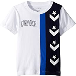 Converse Kids - Star Chevron Stripe Tee (Little Kids)
