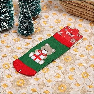 Fgolphd, Fgolphd Navidad con Temas de algodón de los niños de Dibujos Animados Jacquard Calcetines de Navidad roja del bebé Calcetines otoño Invierno Absorber el Sudor de Permeabilidad Calcetines