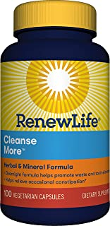 Renew Life  Adult Cleanse - Cleanse More, Herbal & Mineral Formula - Gluten, Dairy & Soy Free - 100 Vegetarian Capsules