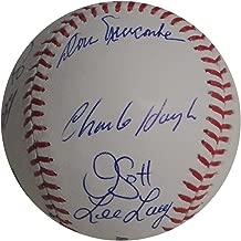 Don Newcombe Jim Gott Lee Lacy Russell AJ Ellis Van Slyke Signed Dodger Baseball