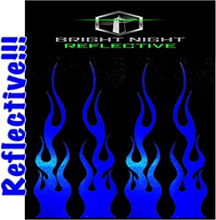 Flame Decals Reflective (2) 1.25