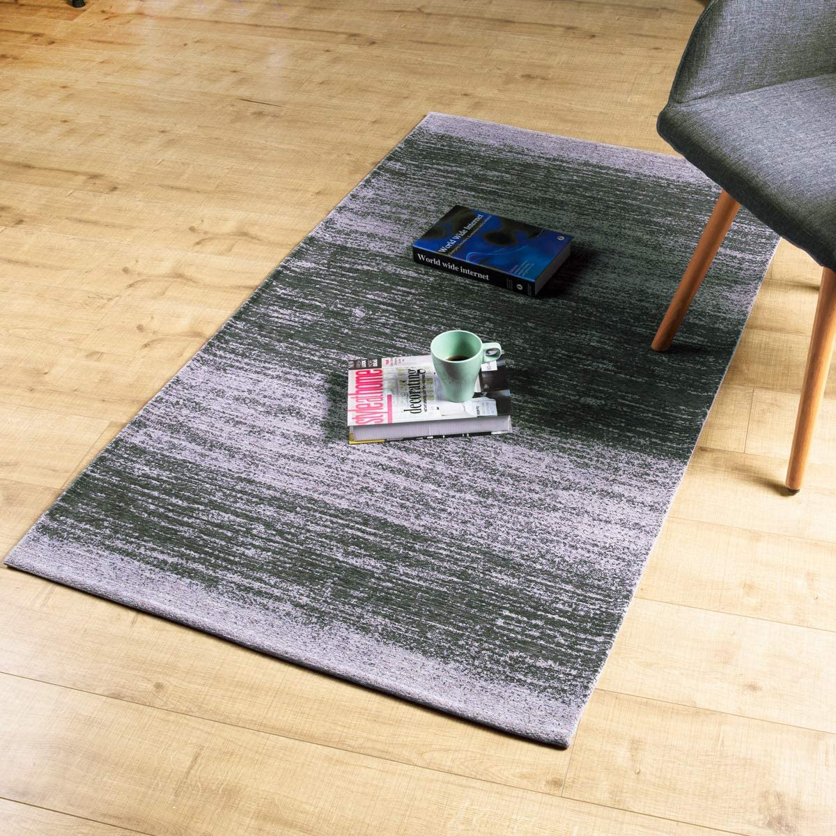 AMIDA 3x5 Rugs for Entryway Grey Skid Spring new work Deluxe Washable - Machine Non Abs