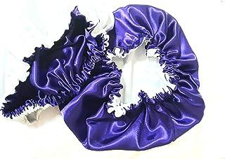 Handmade Satin Bonnet for Natural Hair/بونيه ساتان مصنوع يدوياً للشعر الطبيعي