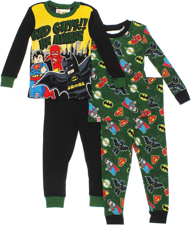 Little Kid//Big Kid Lego DC Super Heroes Boys 4 Piece Pajamas Set