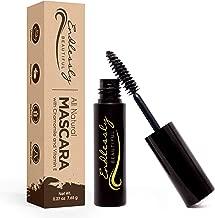 Organic Mascara | Brown Mascara | Vegan & Cruelty Free | Best Natural Mascara for Thickening and Lengthening | Best Gluten Free Eyelash Organic Make Up | Mascara to Lengthen Eyelashes | Non-GMO