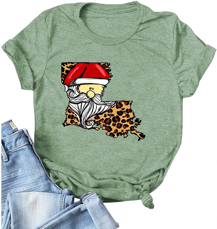 Kethorina Sale Christmas T-Shirt Women Cute Graphic Direct store Santa Short Tees