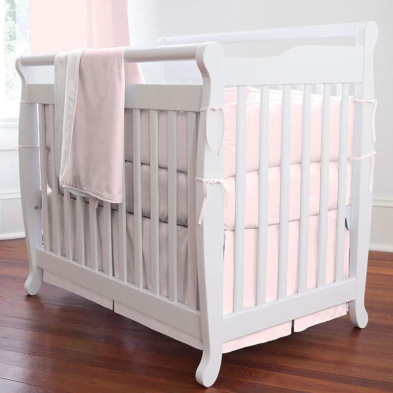 Carousel Designs Solid Pink Mini Crib Bumper