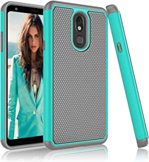 LG Stylo 5 Case, 2019 LG Stylo 5 Cute Case, Njjex [Nveins] Impact Hybrid Dual Layers Hard Plastic Back + Soft Silicone Rubber Armor Defender Shockproof Slim Phone Cover For LG Stylo 5 6.2