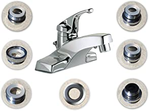 SmarterFresh Seven Piece Faucet Adapter Kit, Brass Aerator Adapter Set to Connect Garden Hose, Water Filter, Standard Hose via Diverter, in RV & Other - Male & Female Faucet Adapter for Sink
