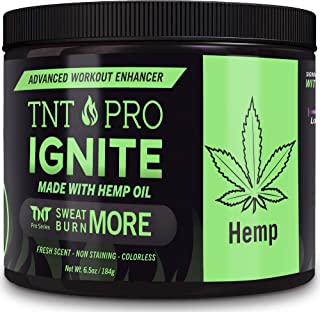 Belly Fat Burner Sweat Gel - Weight Loss Fat Burning Cream For Stomach with Hemp Pain Relief - TNT Pro Ignite Hot Cellulite Slimming Cream for Men and Women (6.5 oz Jar)