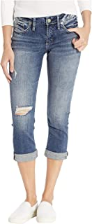 Silver Jeans Co. Women's Elyse Curvy Fit Mid Rise Capri Jean