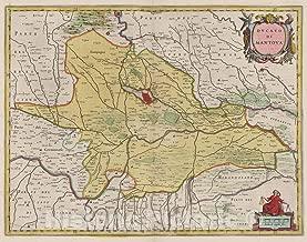 Historic Pictoric Map : Italy, Mantua Region (Italy) Atlas Maior Sive Cosmographia Blaviana, Ducato Di Mantova, 1665 Atlas, Antique Vintage Reproduction : 56in x 44in