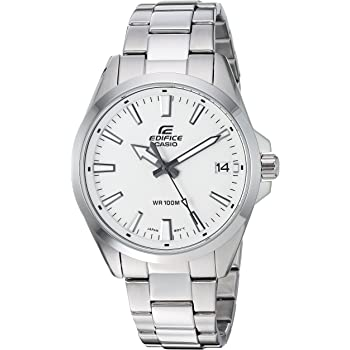 Casio Men's Edifice Quartz Watch with Stainless-Steel Strap, Silver, 19.7 (Model: EFV-100D-7AVCR)