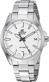 Men's Edifice Quartz Watch with Stainless-Steel Strap, Silver, 19.7 (Model: EFV-100D-7AVCR)