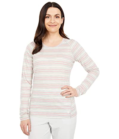 Smartwool Merino 150 Baselayer Long Sleeve (Ash Heather Stripe) Women