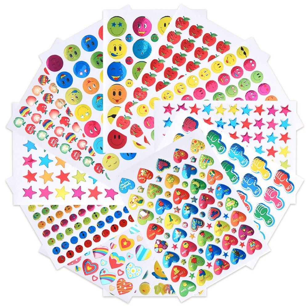 C Coopanda Raised Plastic Sticker Sheet