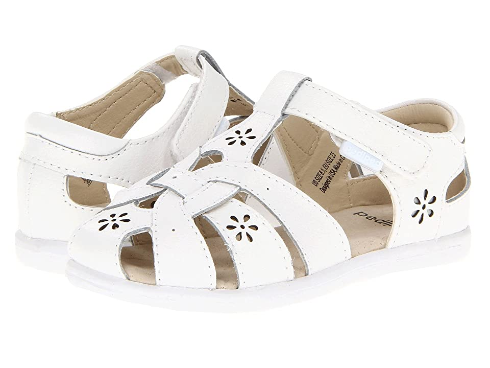 pediped Nikki Flex (Toddler/Little Kid) (White) Girls Shoes